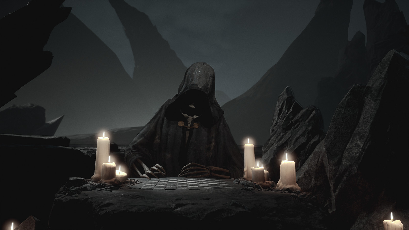 """""""Gomorrah""""  Concept and Reaper Art direction - Modelling --Texturing - Lighting - VFX - Optimization   The concept for this scene was created by """"David Cottrell-Jones""""   The model and animations for the grim reaper were outsourced to """"The Post House"""""""