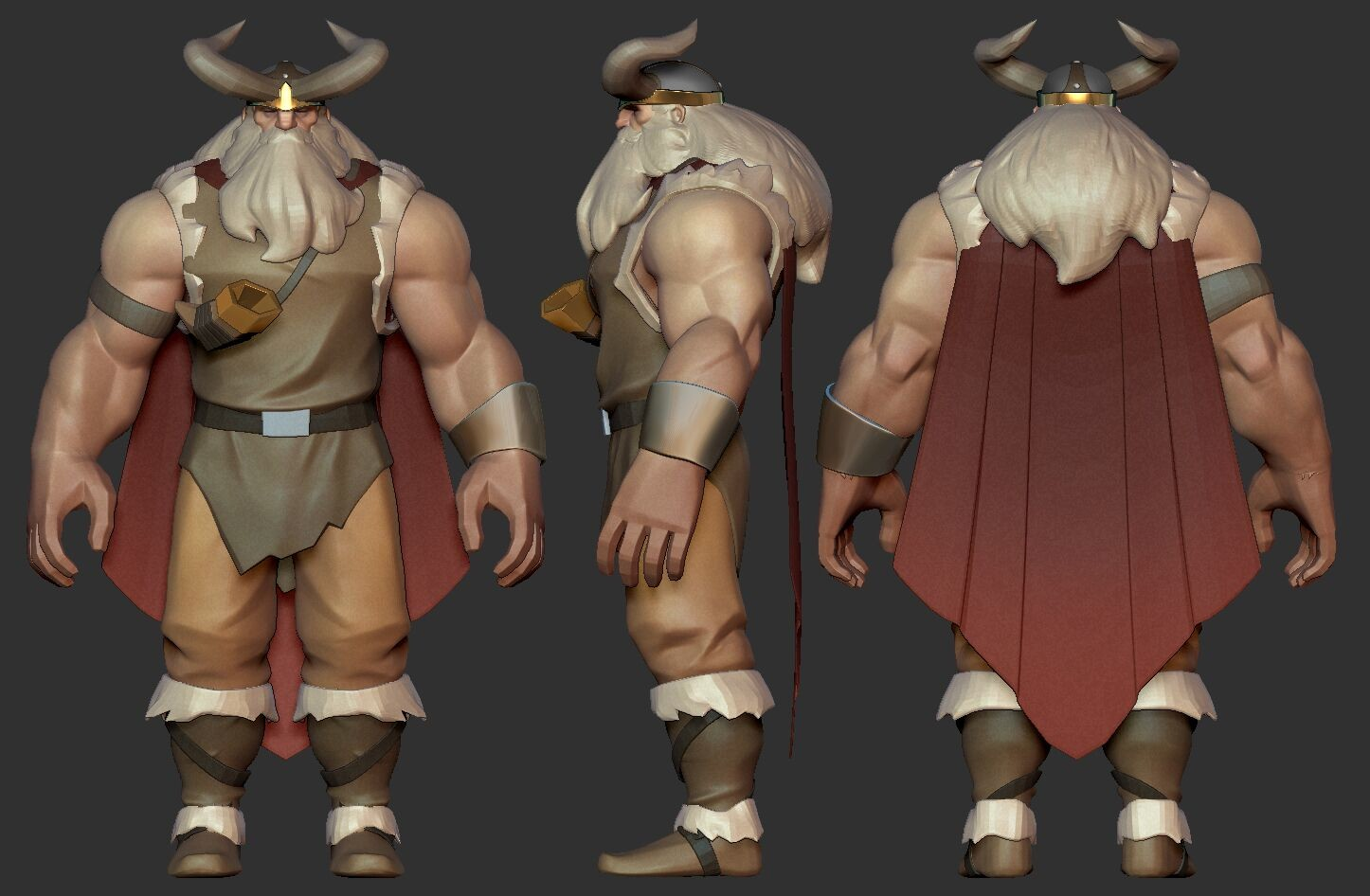 First Viking prototype as the team was figuring out how it reads as a MOBA type of character.