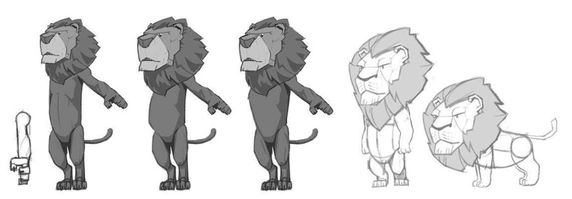 T d chiu t d chiu 3dscrib lionsketches
