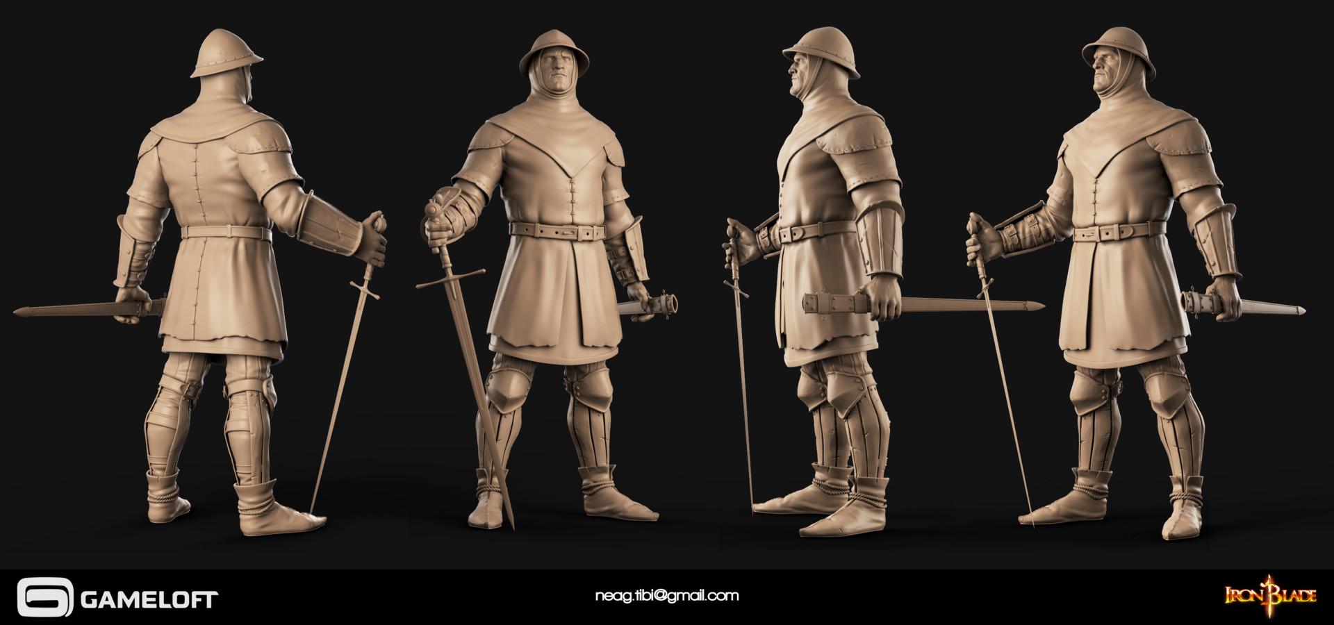 Tibi neag tibi neag iron blade garrison soldier c high poly