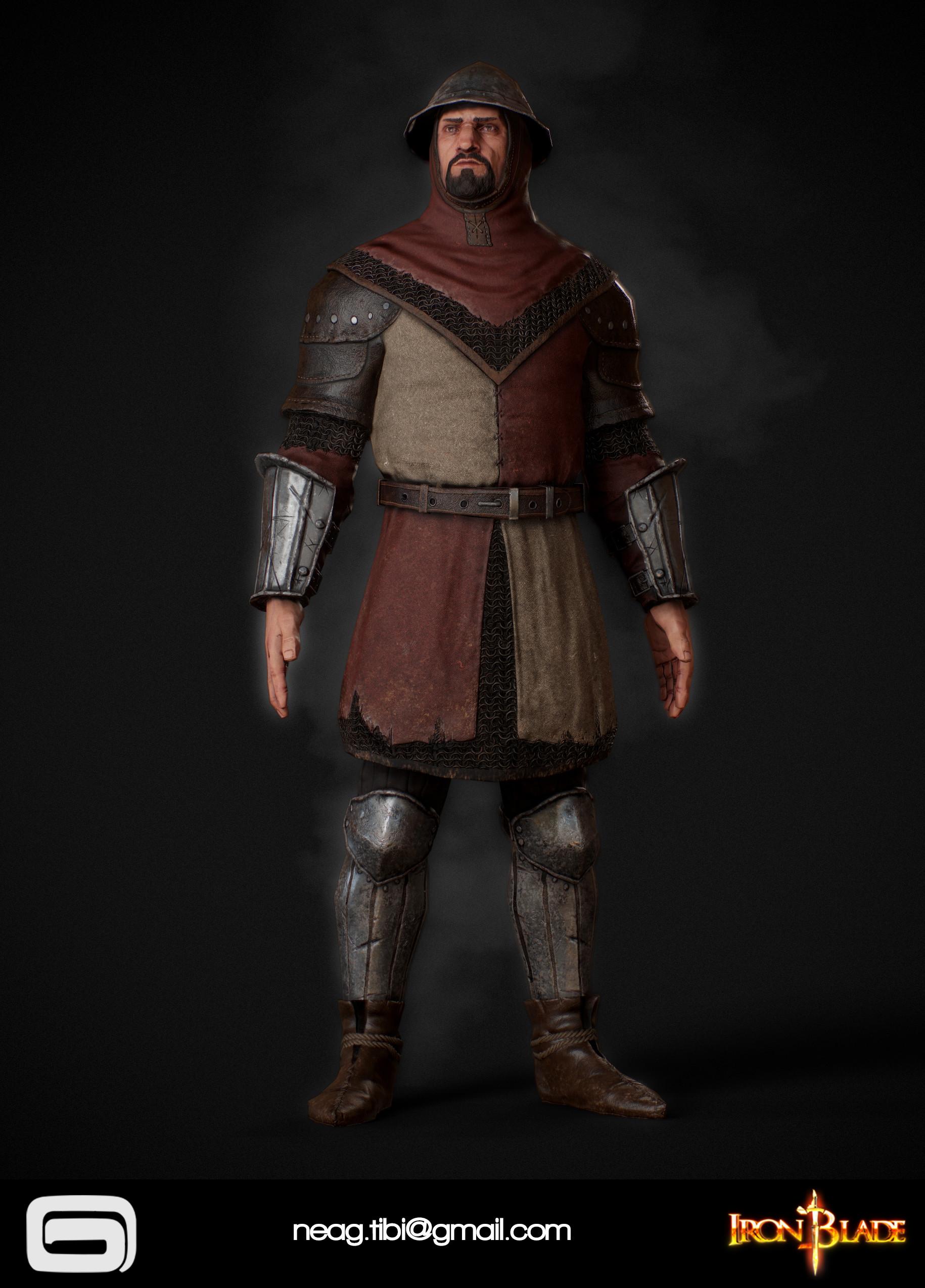 Tibi neag tibi neag iron blade garrison soldier c low poly 02