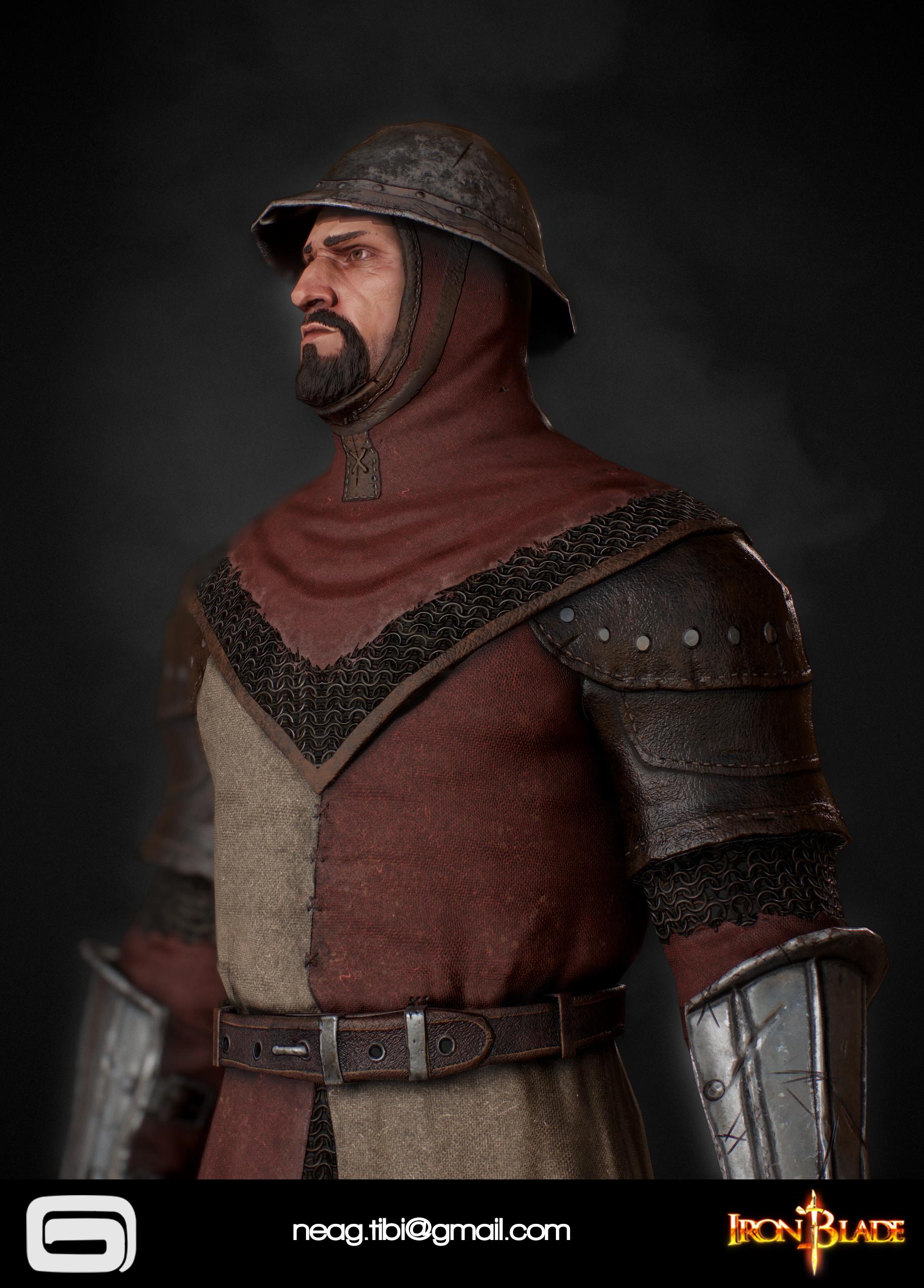 Tibi neag tibi neag iron blade garrison soldier c low poly 03