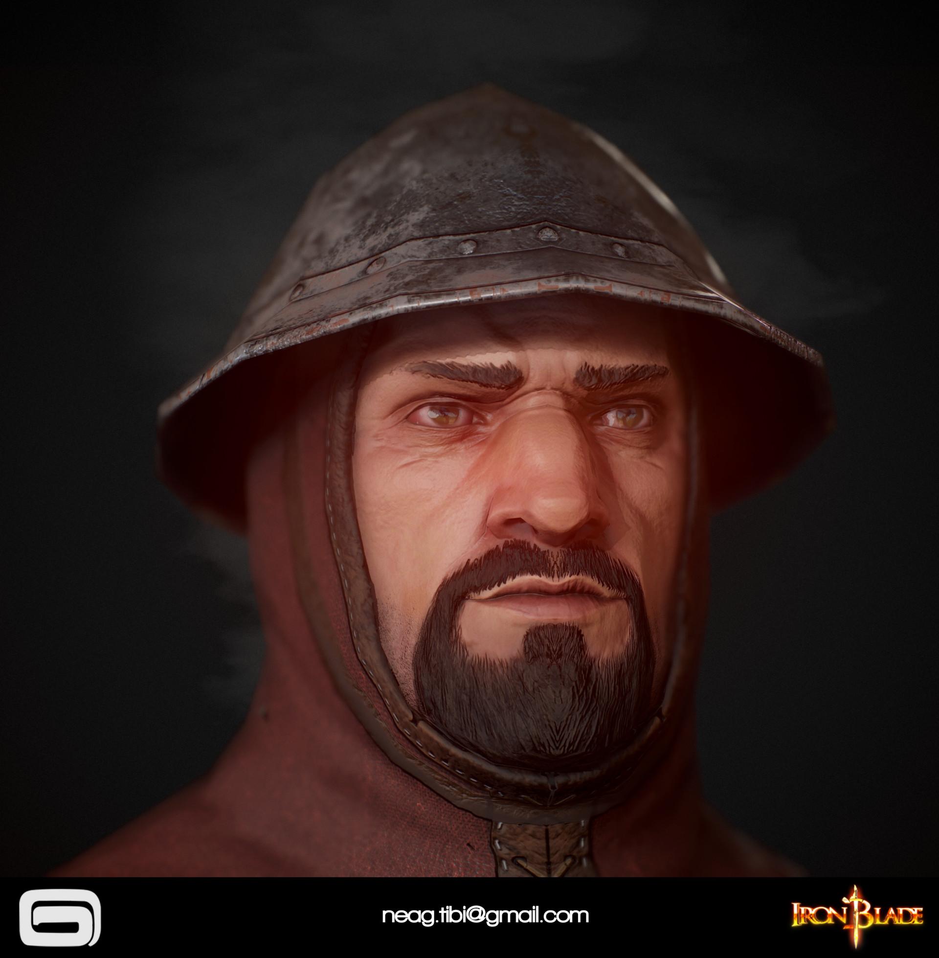 Tibi neag tibi neag iron blade garrison soldier c low poly 09