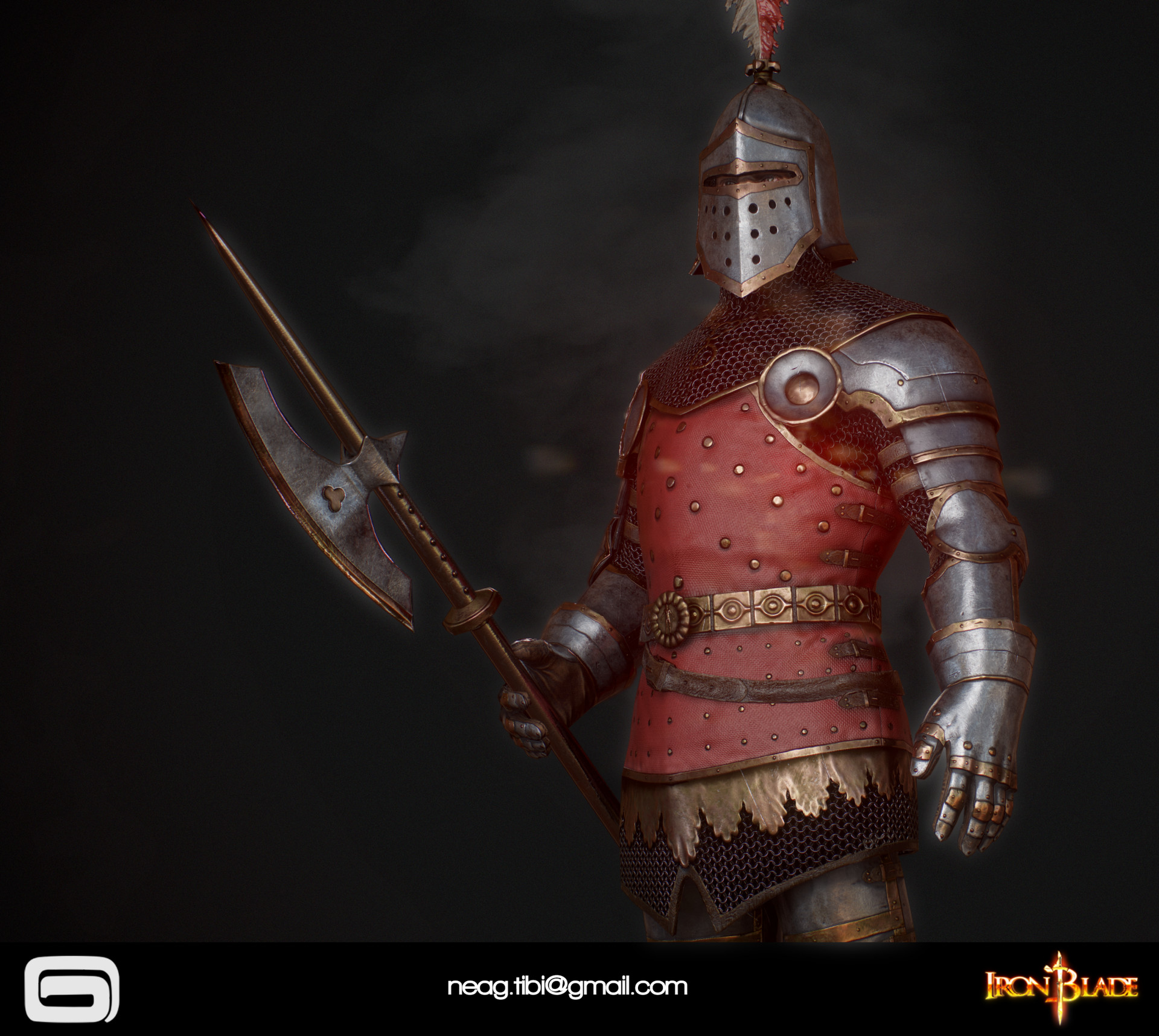 Tibi neag tibi neag iron blade royal guard low poly 03 resize