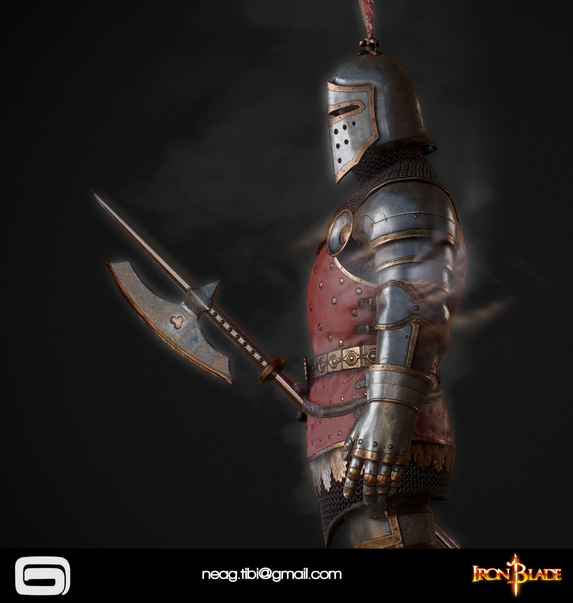 Tibi neag tibi neag iron blade royal guard low poly 04
