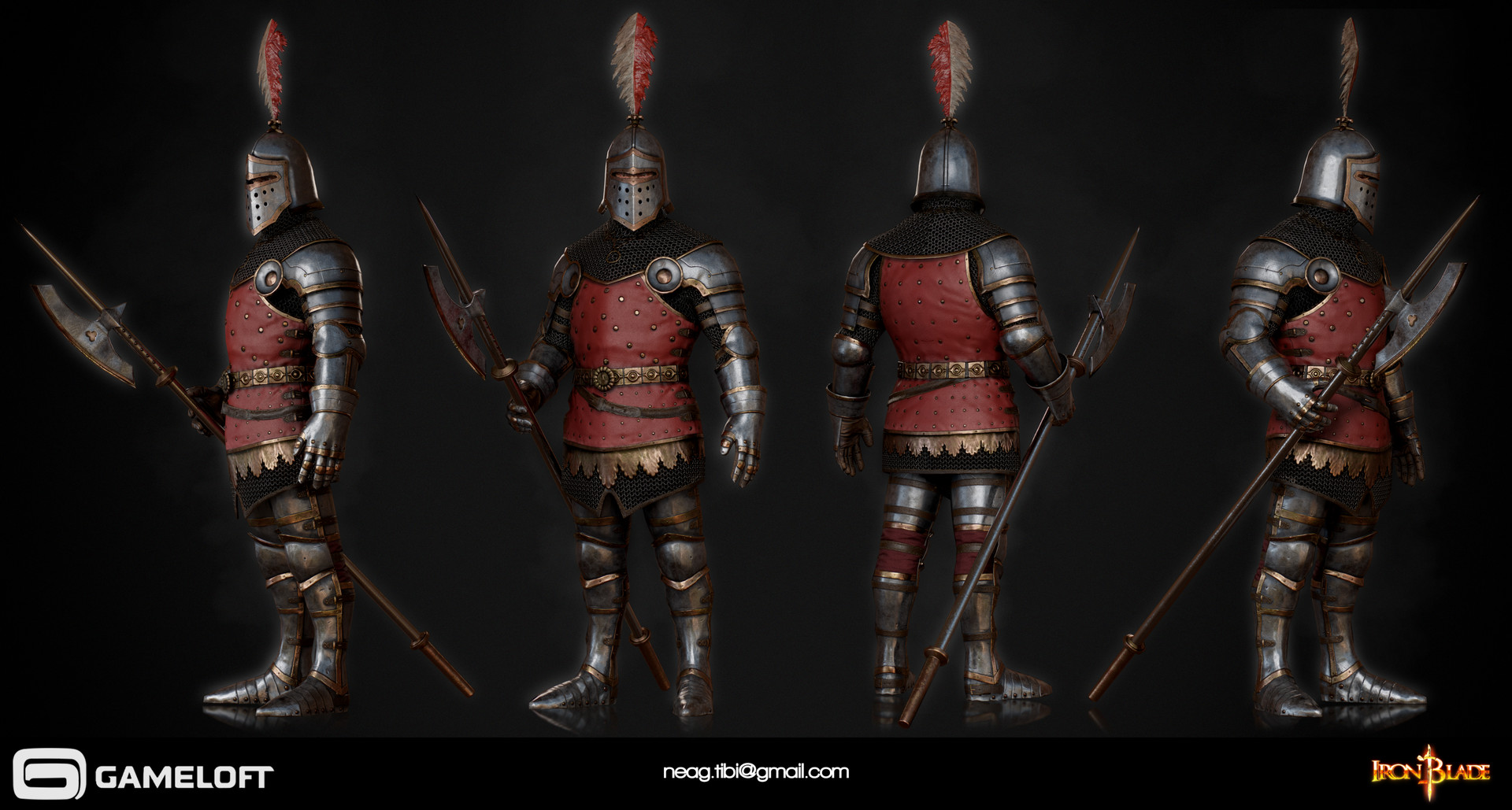 Tibi neag tibi neag iron blade royal guard low poly resize
