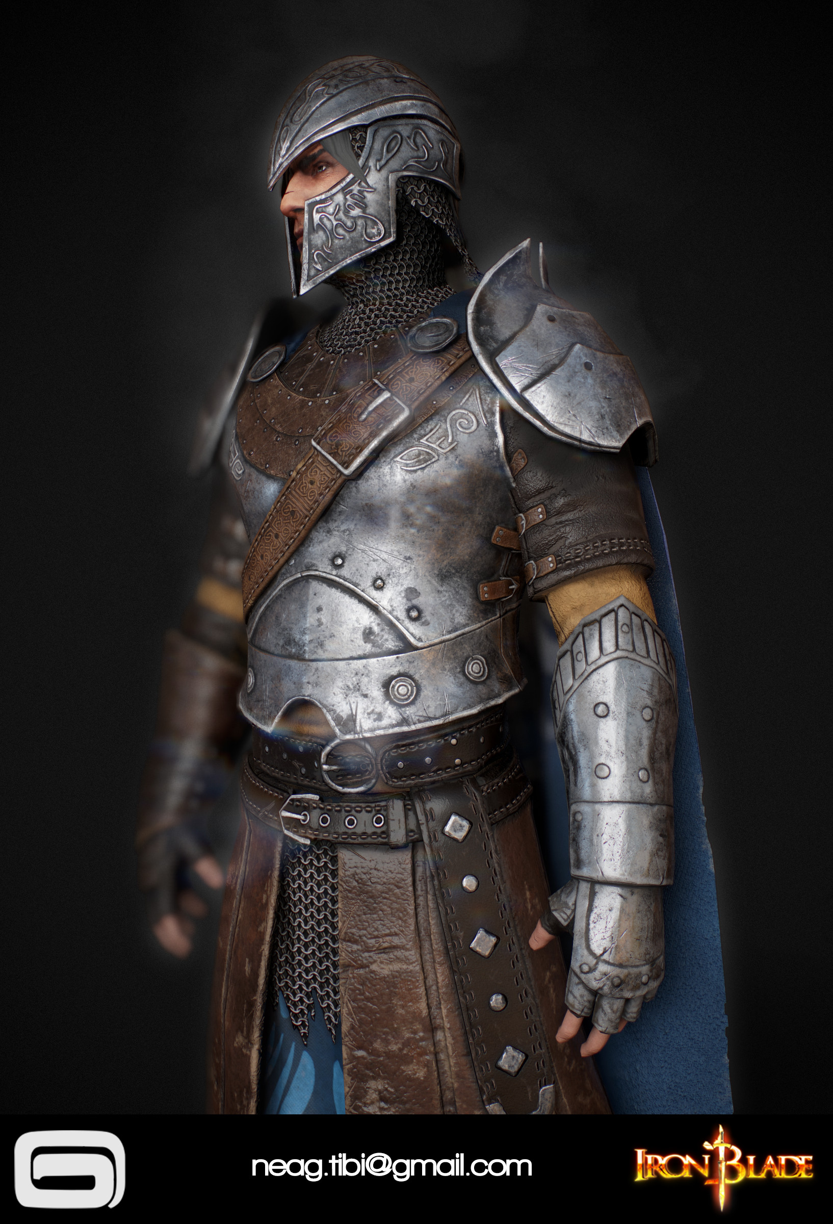 Tibi neag tibi neag iron blade mc armor 09b low poly 07