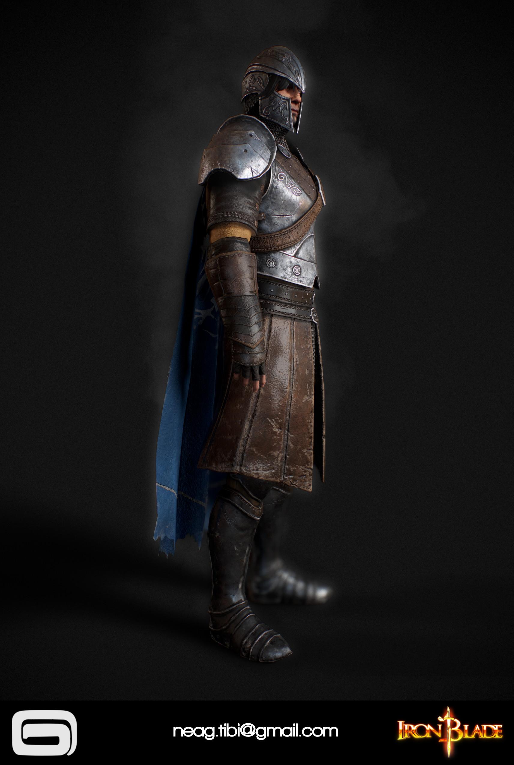 Tibi neag tibi neag iron blade mc armor 09b low poly 06