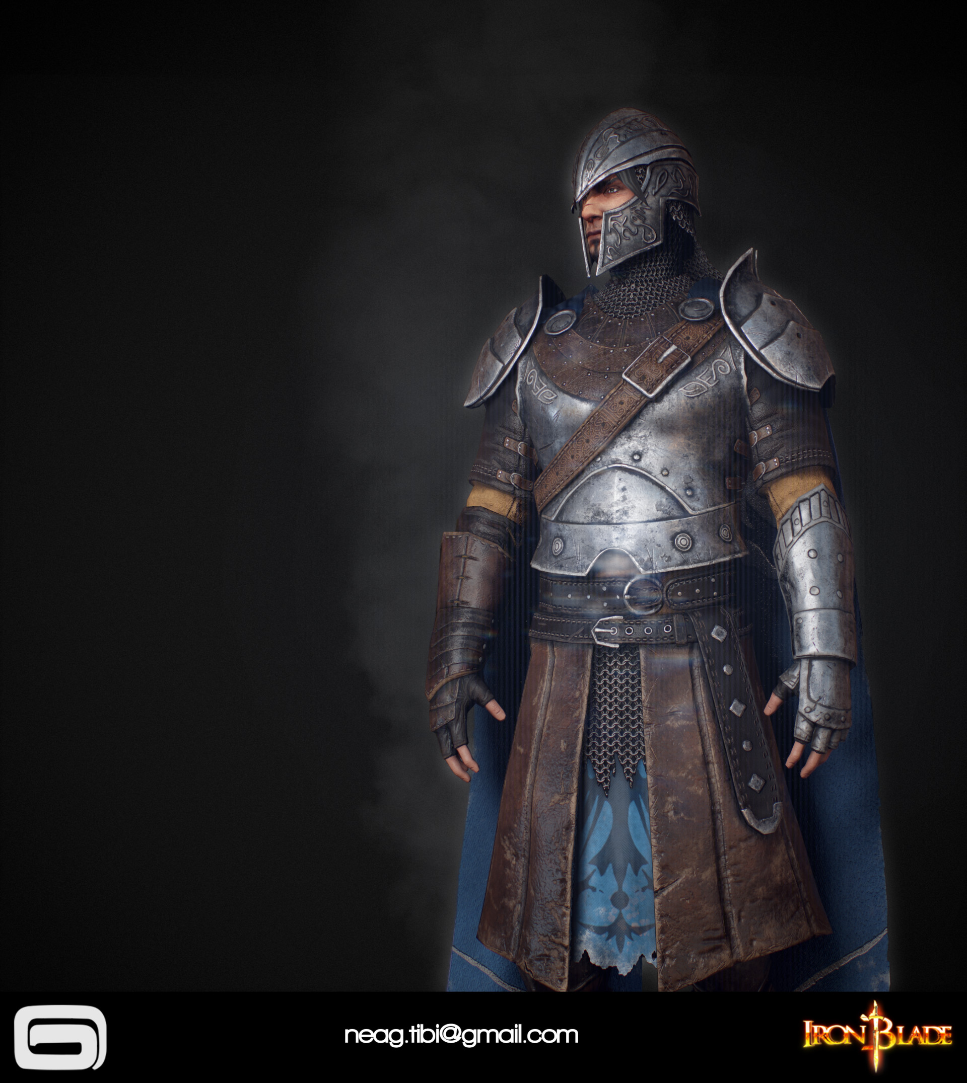 Tibi neag tibi neag iron blade mc armor 09b low poly 04