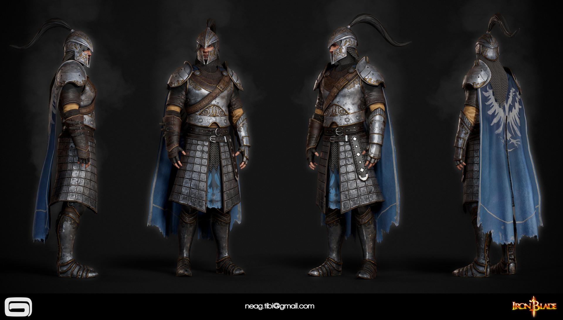 Tibi neag tibi neag iron blade mc armor 09c low poly resize