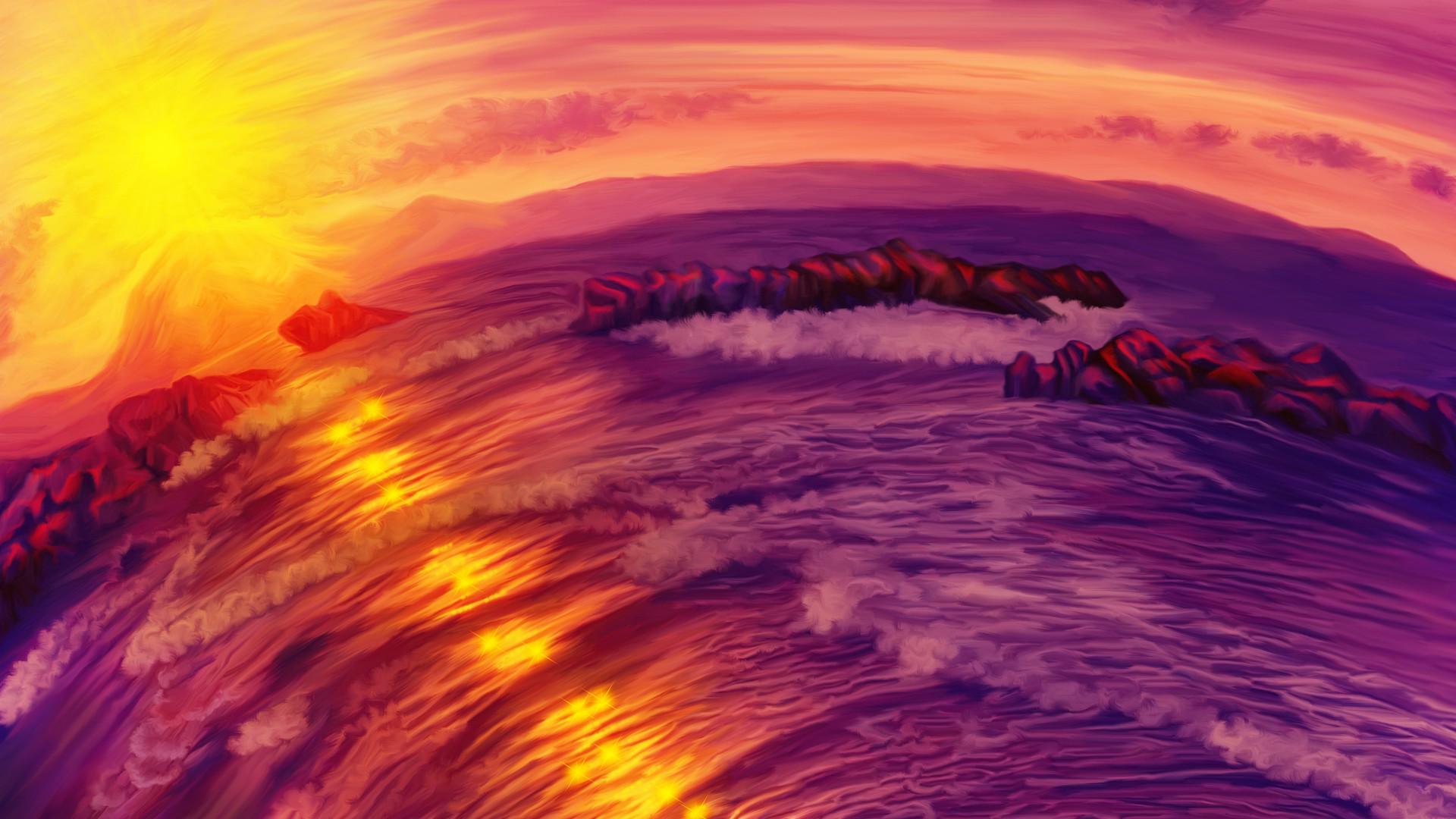 Artstation Purple Sunset On Ardor Planet Nina Vels