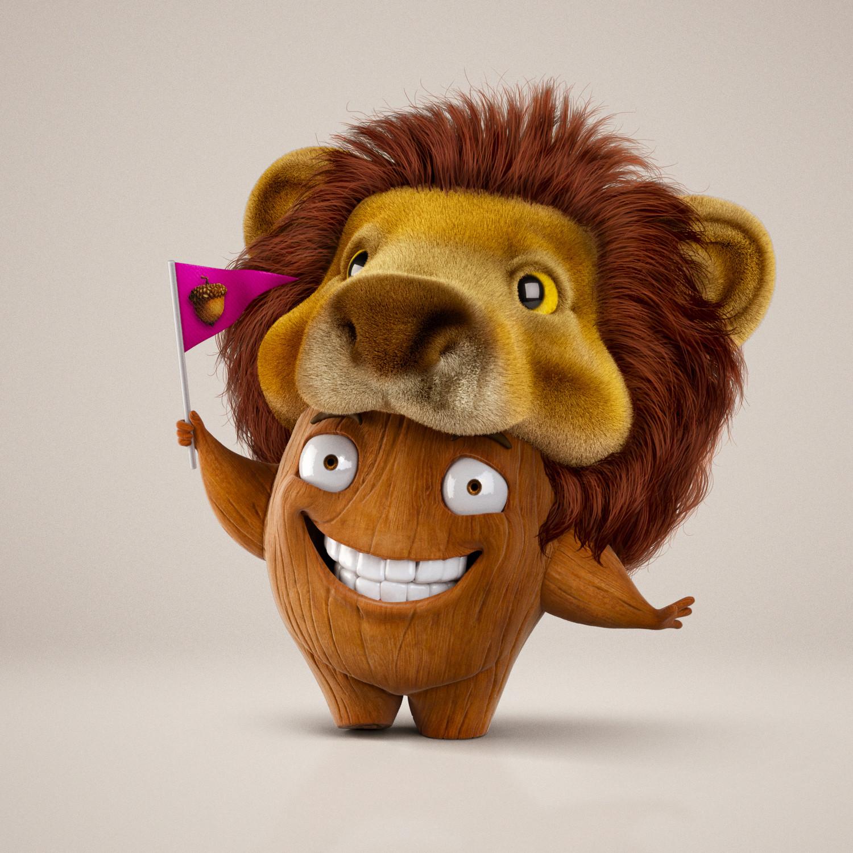 Mascot Nuts - lion Hat
