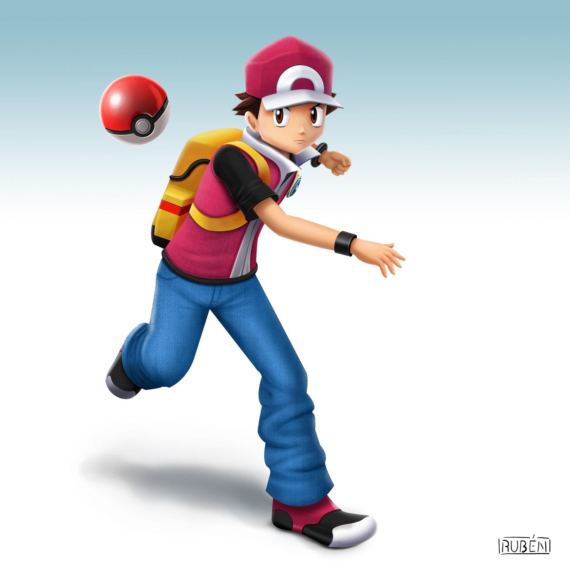 artstation pokemon trainer ssb4 rubén steven cardenas
