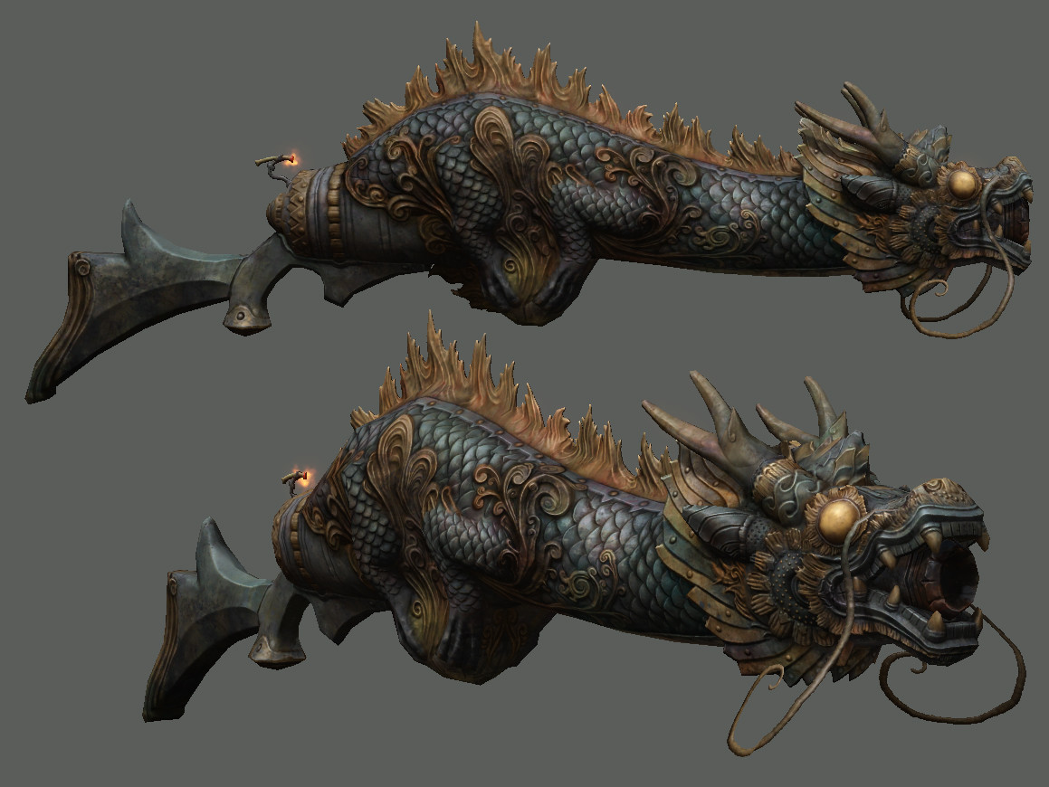 I modeled and textured the weapon based on a design by myself.