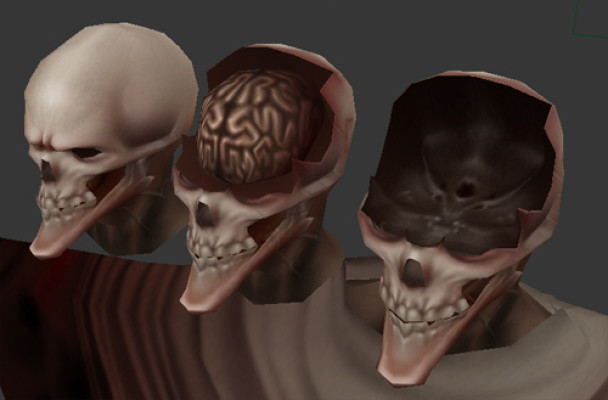 Ghoul head variations.