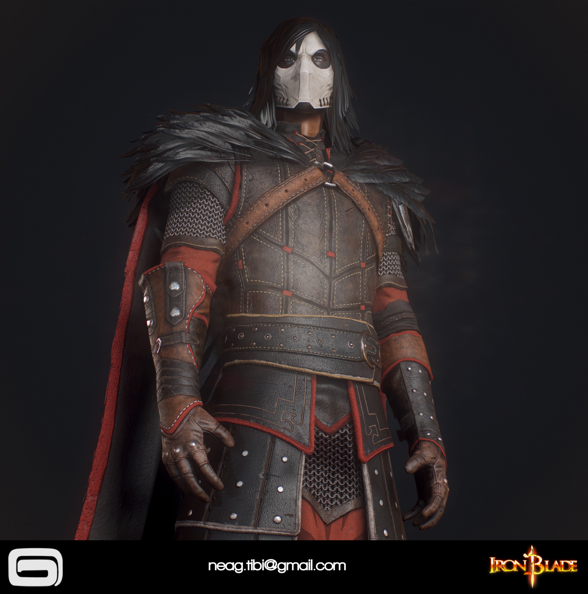 Tibi neag tibi neag iron blade mc armor 11c low poly 04