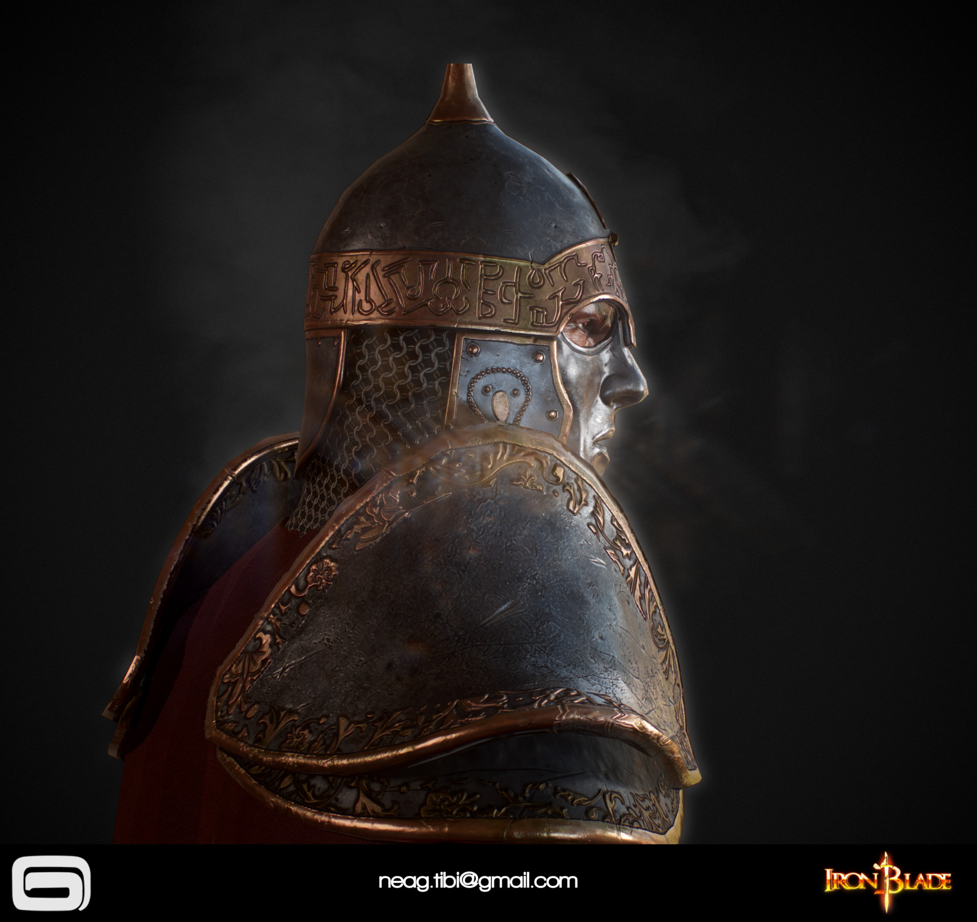 Tibi neag tibi neag iron blade mc armor 04c low poly 06