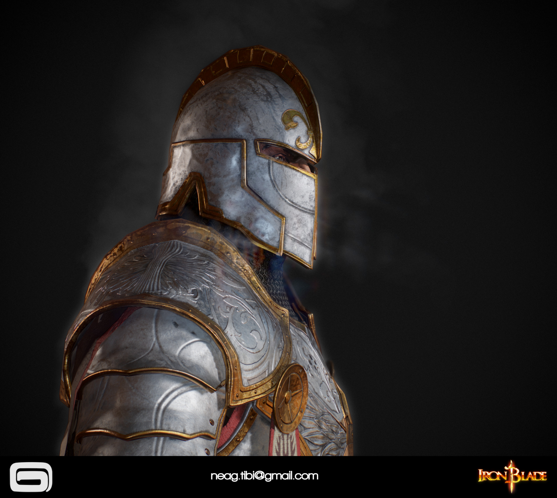 Tibi neag tibi neag iron blade mc armor 06c low poly 05