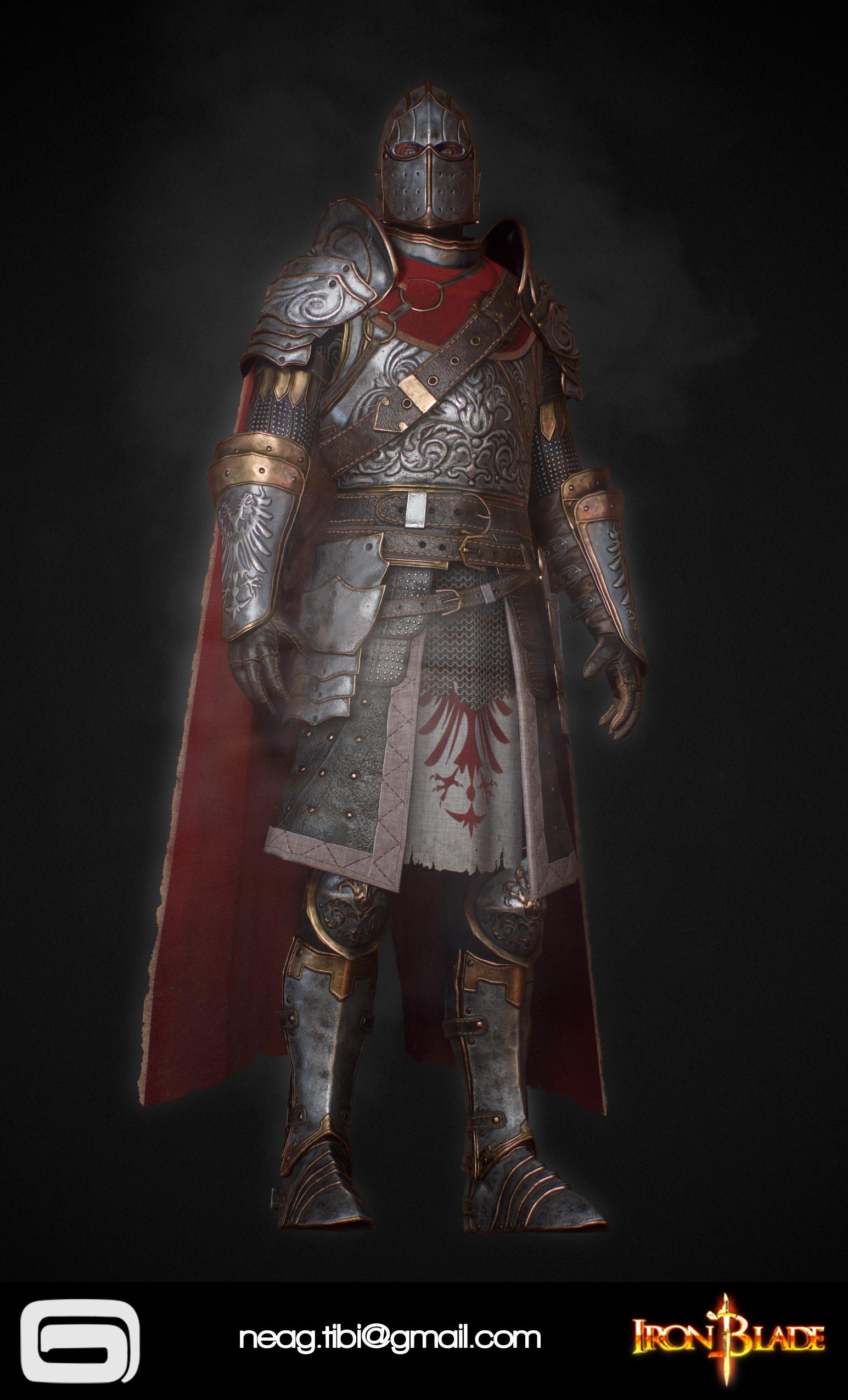 Tibi neag tibi neag iron blade mc armor 02c low poly 02
