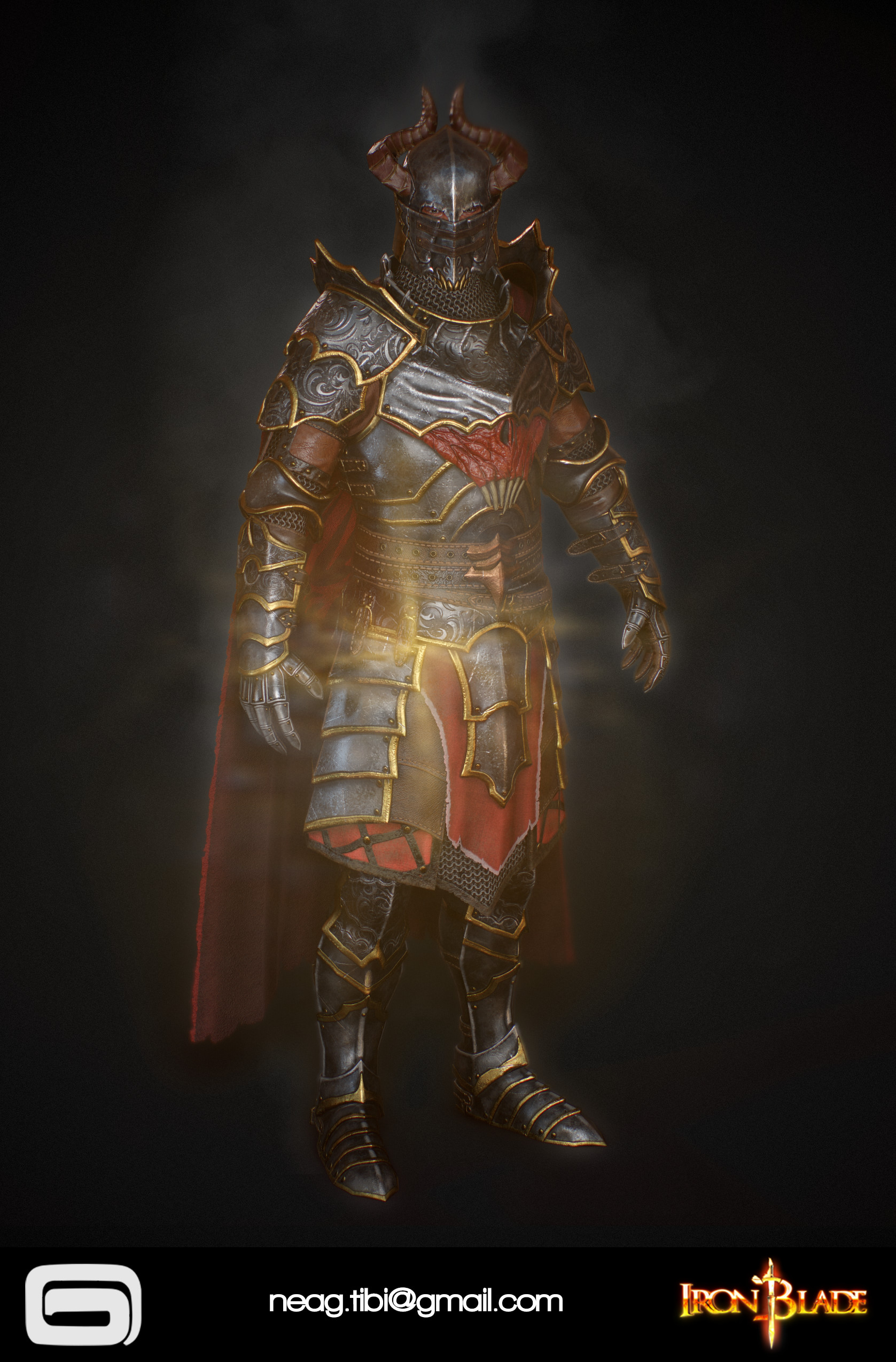 Tibi neag tibi neag iron blade mc armor 10c low poly 03
