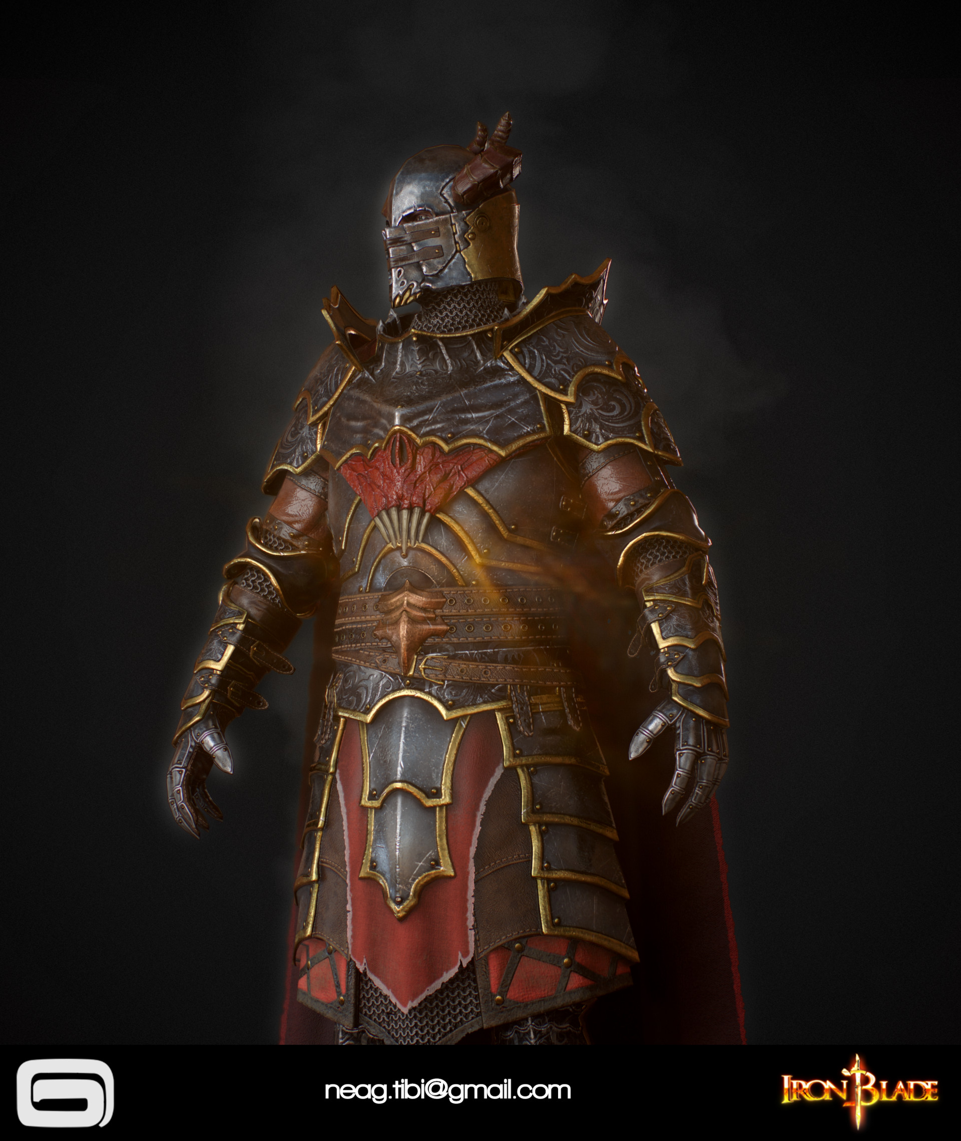 Tibi neag tibi neag iron blade mc armor 10c low poly 06