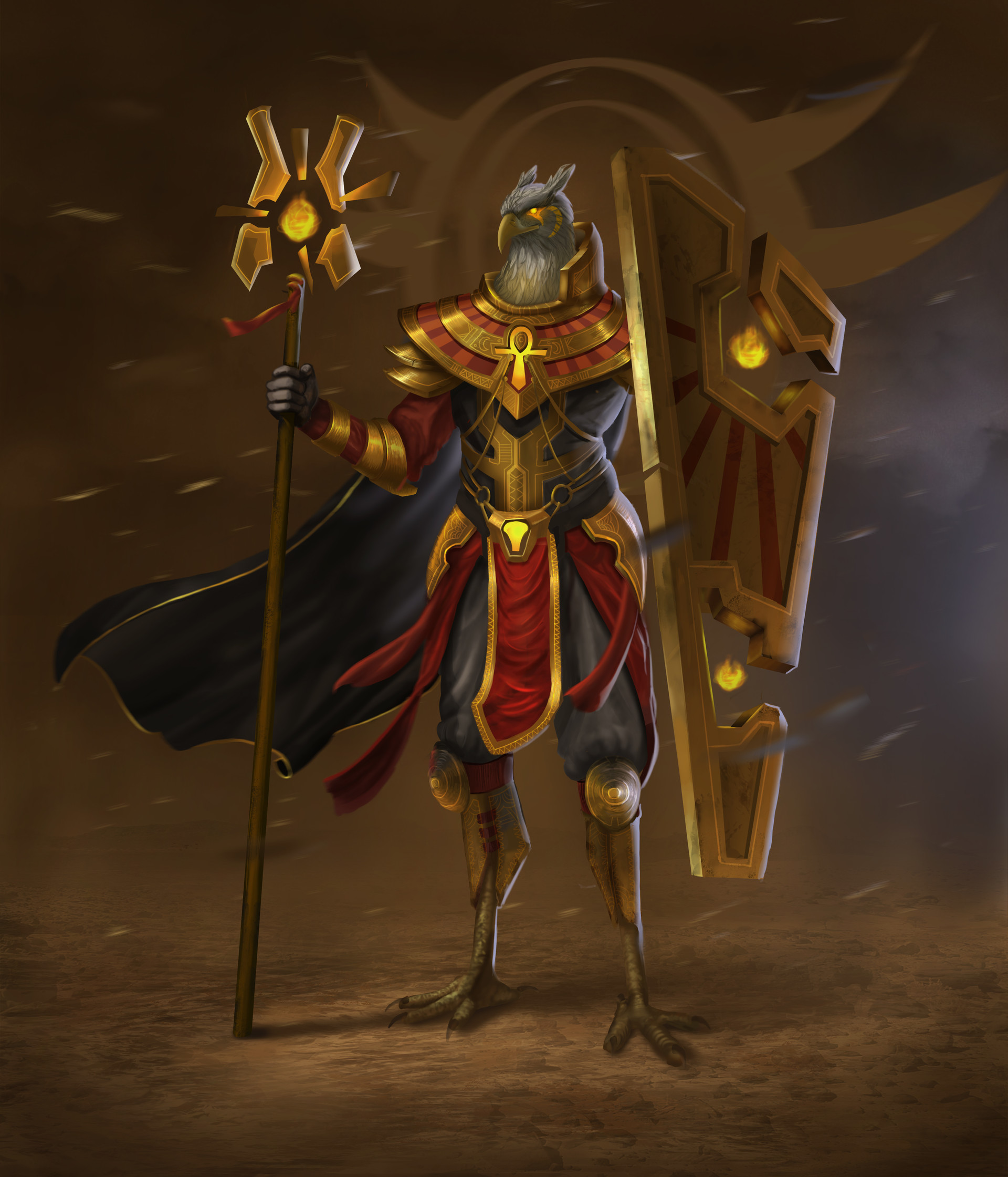 ArtStation - Egyptian God Character Design, Dennis van Kessel