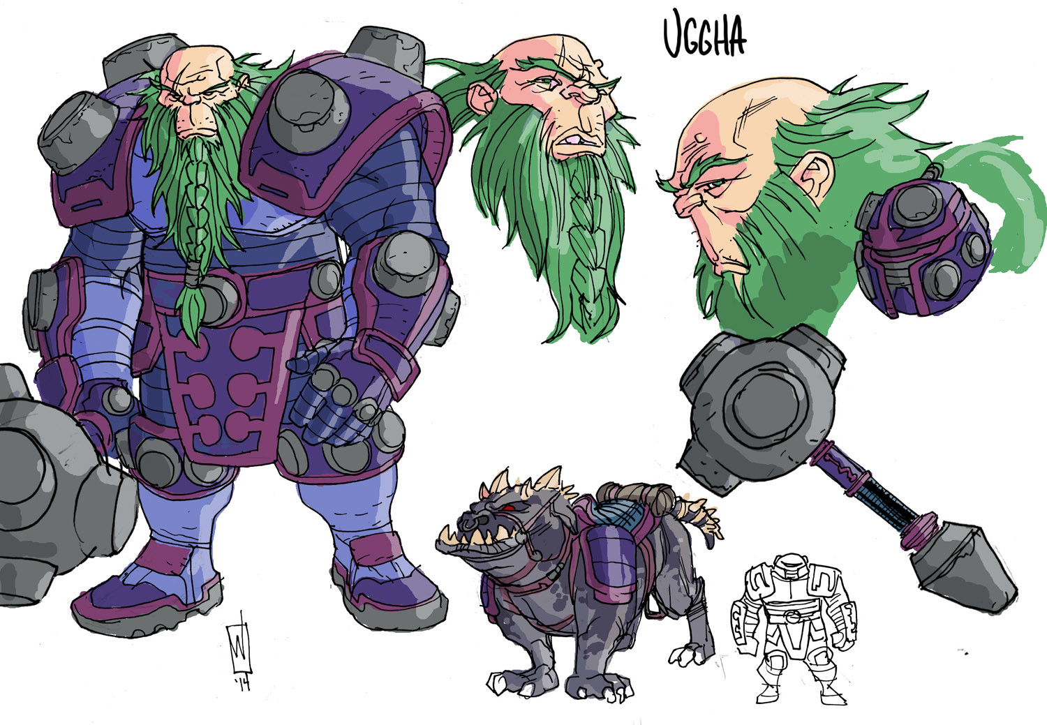 New God design- Uggha. Trying to maintain that Kirby flair. VERY quick turnaround on New God designs. Generally from concept to final design in a matter of hours. That's comics for you.
