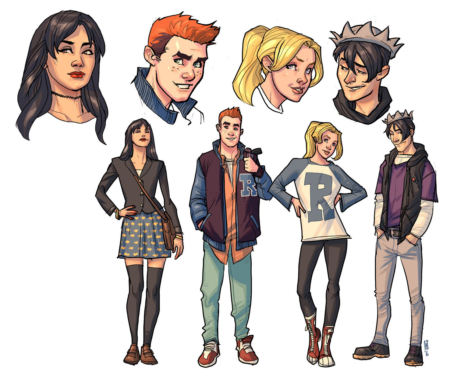 The Archie gang updated.