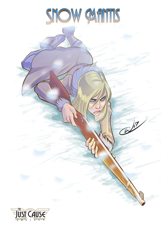 William calleja character design snow mantis