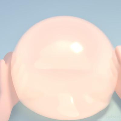 Tzu yu kao at cartoon hands holding a big bubble 0623ss