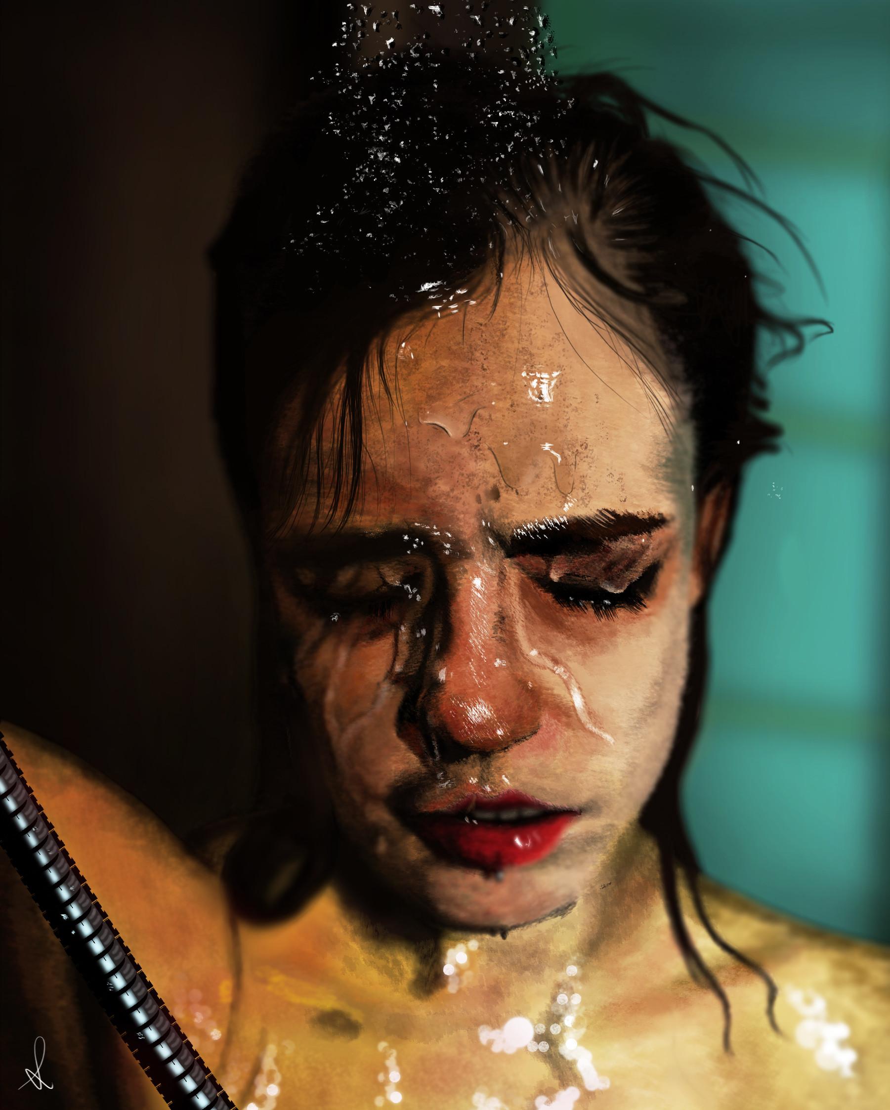 Artstation shower girl photoshop tutorial portrait david martnez shower girl digital portrait tutorial on photoshop baditri Choice Image