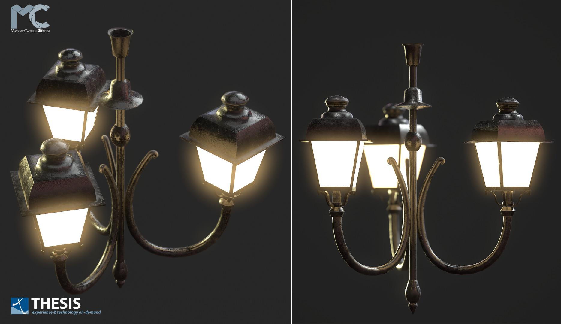 Ceil streetlight (Marmoset Toolbag 3).