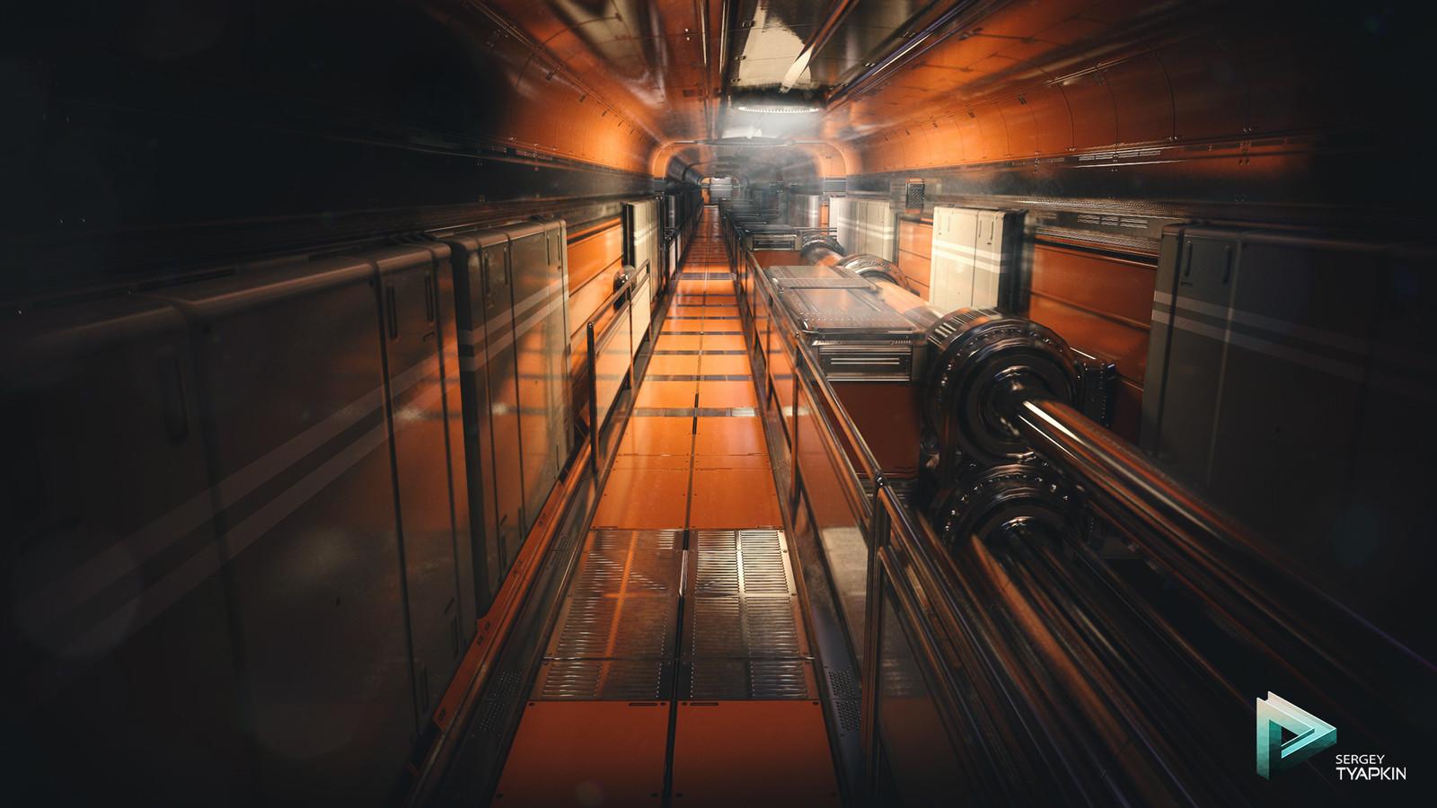 Orange Sci-Fi Environment