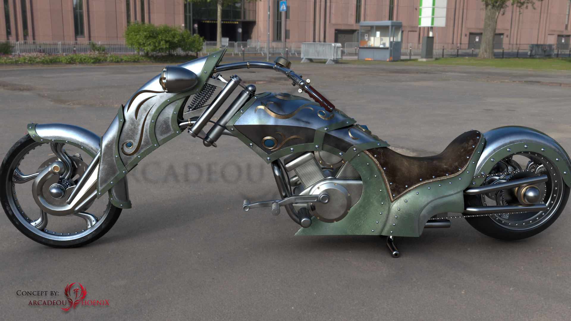 Arcadeous phoenix steam bike r8c