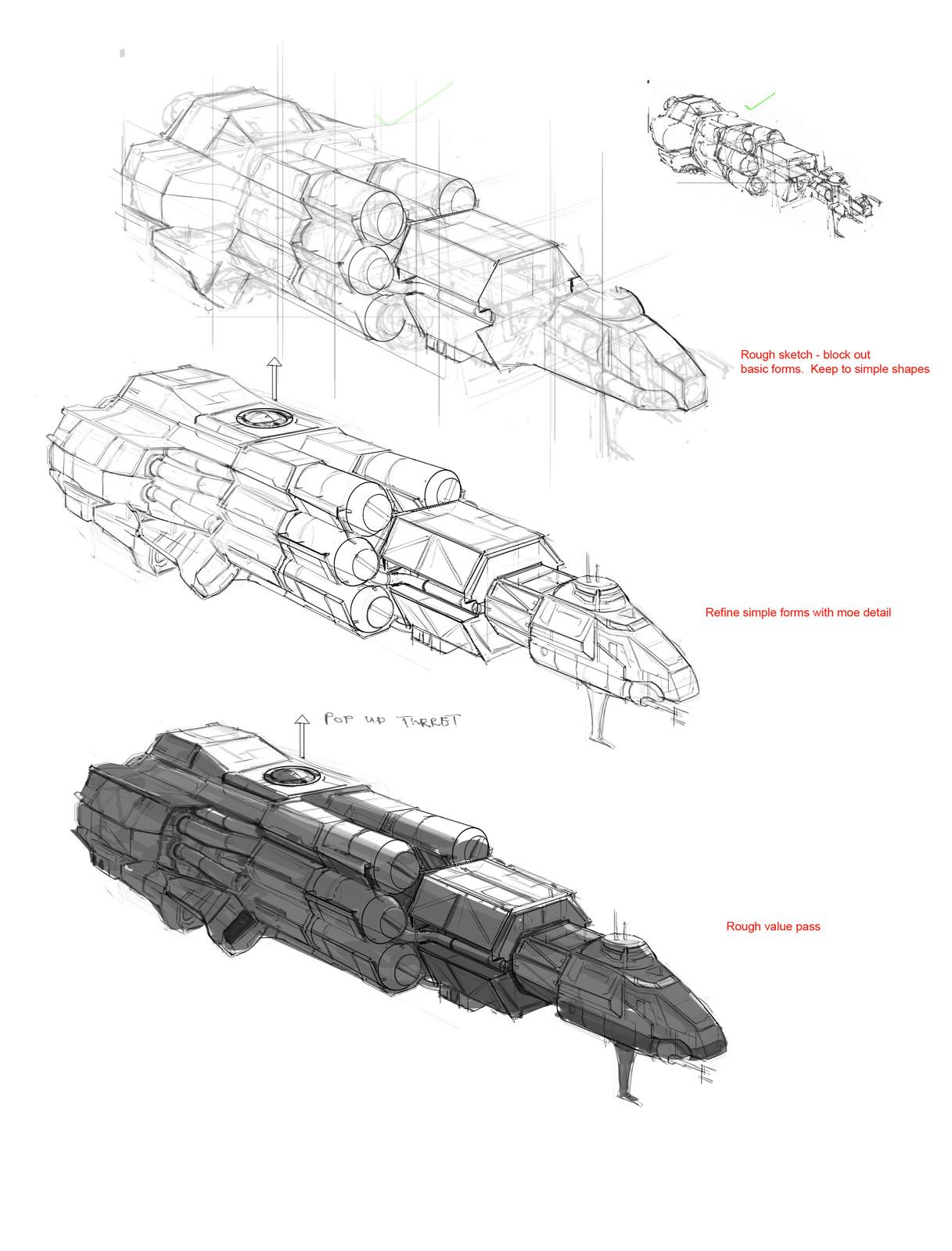 Refine sketch from chosen design