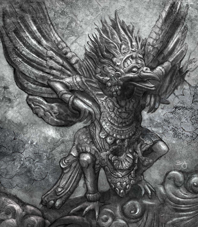Mural panel puzzle design- Garuda