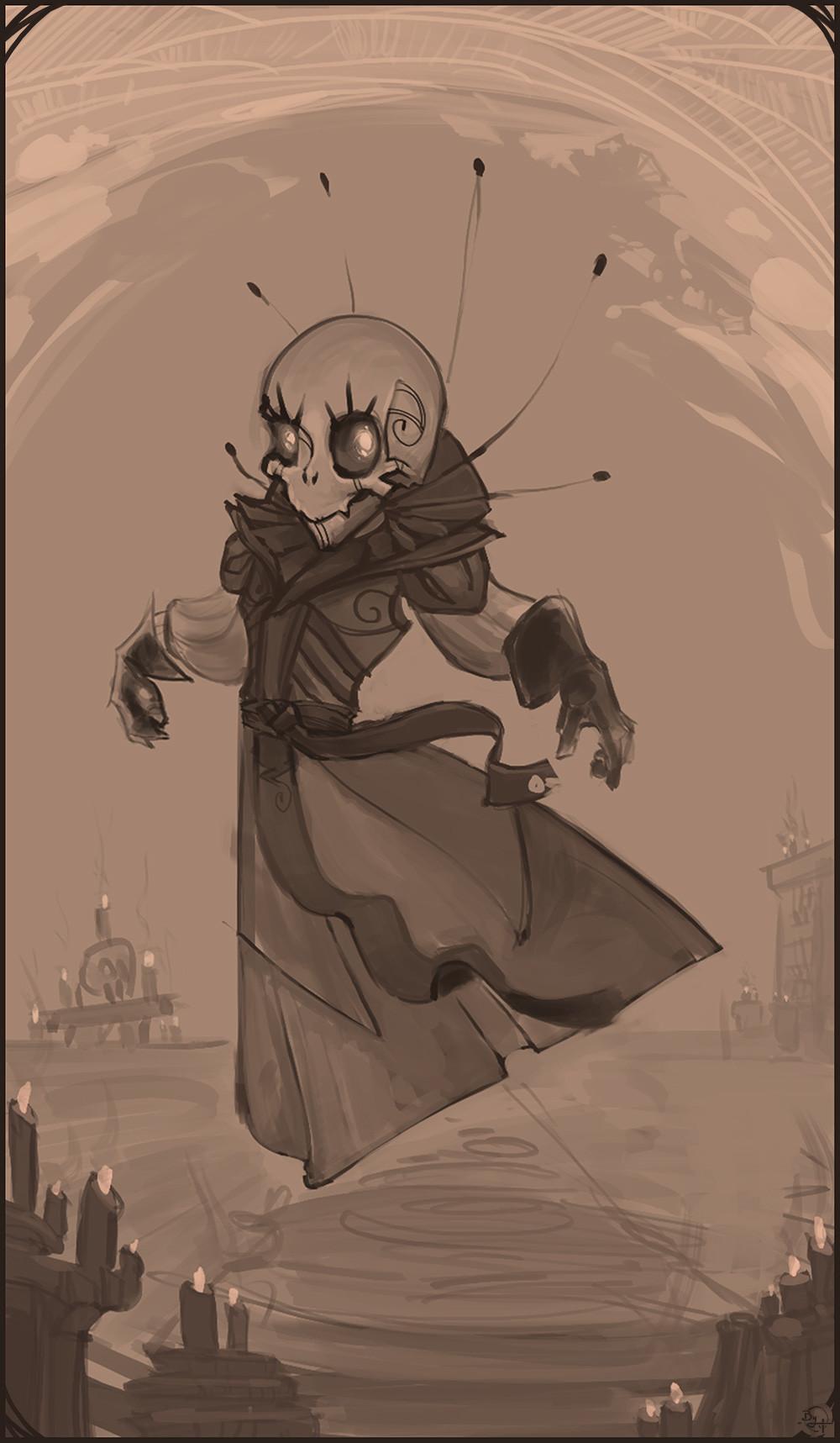 Etienne beschet la gamine squelette ze portrait rough