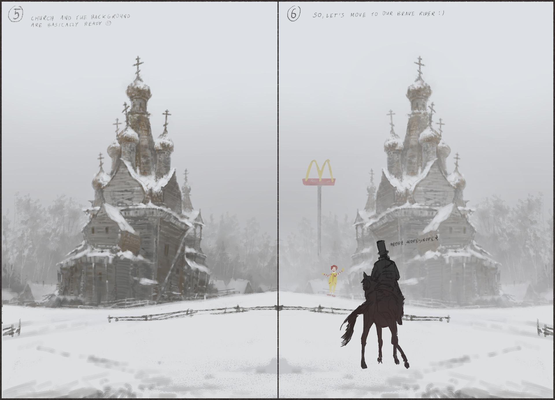 Jakub rozalski unholy land werewolf01process03