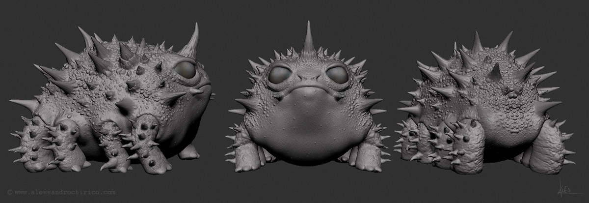 out of Zbrush before paintover