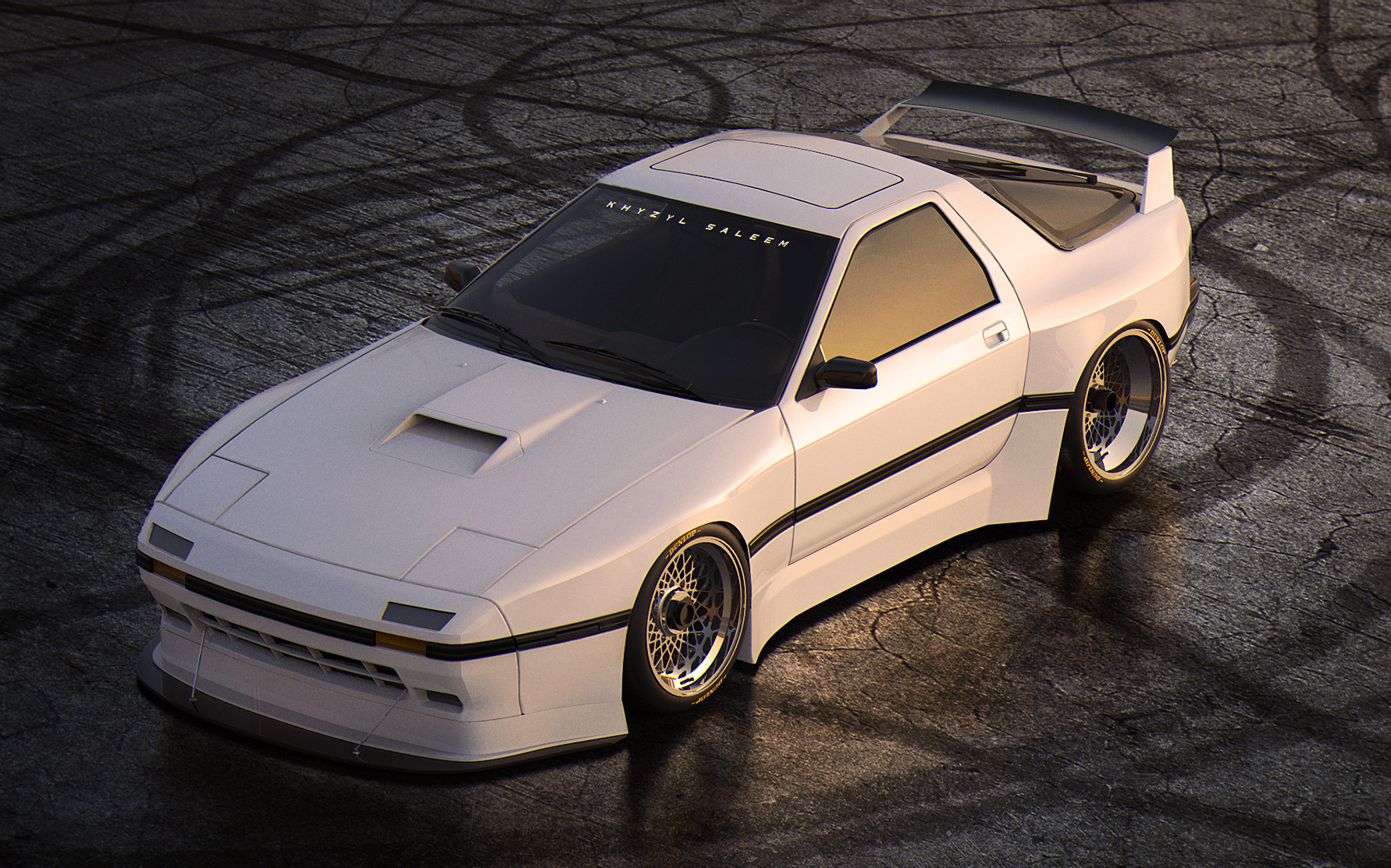 Khyzyl saleem rx7 white low