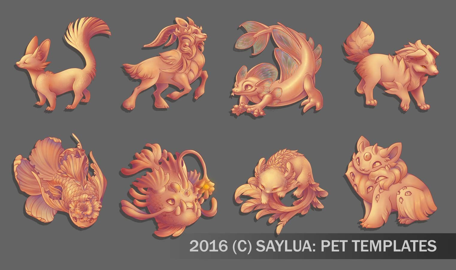 Creature Design & Template for the website Saylua