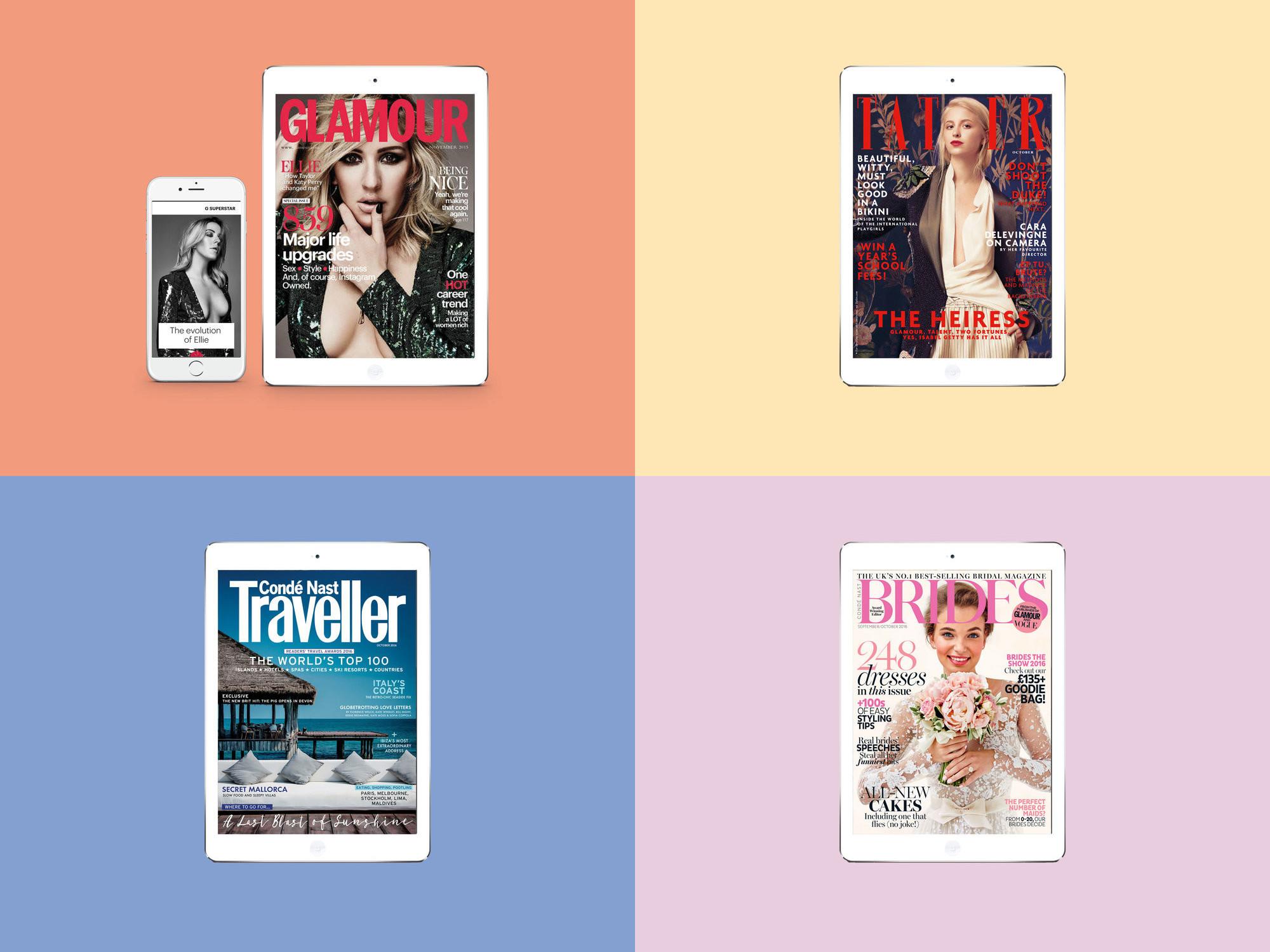 Glamour UK, BRIDES, Tatler, Condé Nast Traveller