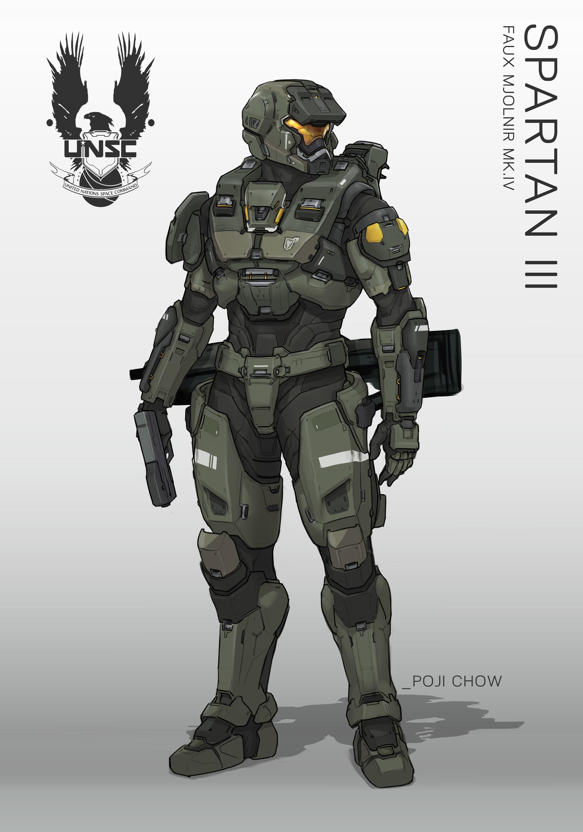 Artstation Spartan Iii Faux Mjornir Halo Fanart Poji Chow