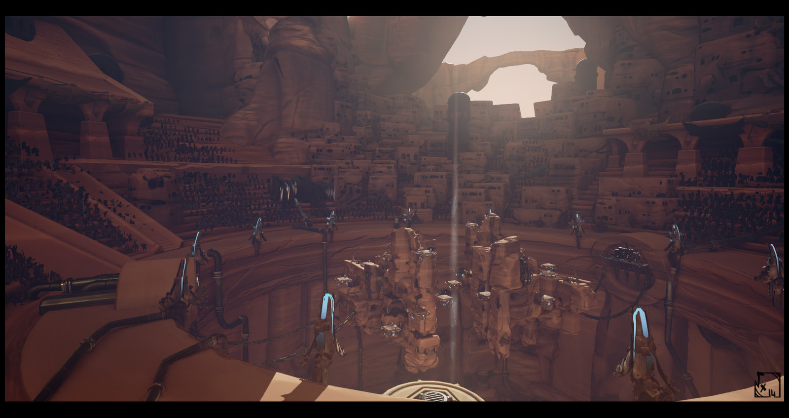 "The Arena, ingame screenshots. I assembled almost everything to bring this arena to life, but all of this wouldn't had run fine without our ""blackmagic artist"", Anthony Daneluzzi, who was here on technical & optimization stuff !"