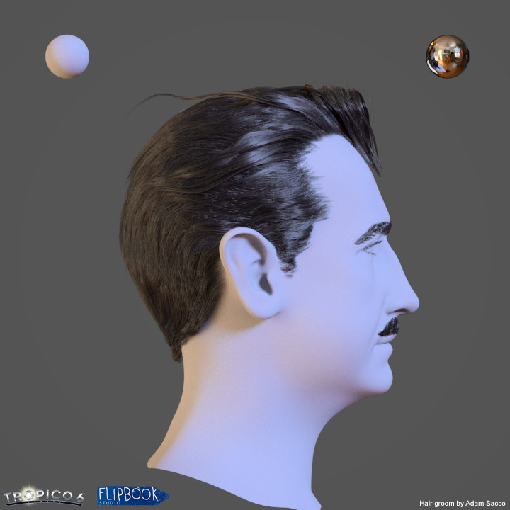 Hair groom and look dev in Ornatrix/ Vray