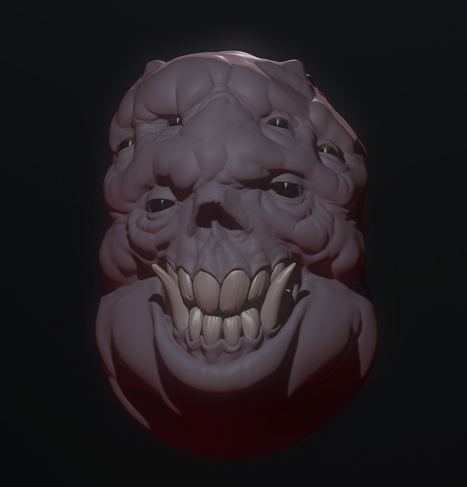 WIP Monster Head