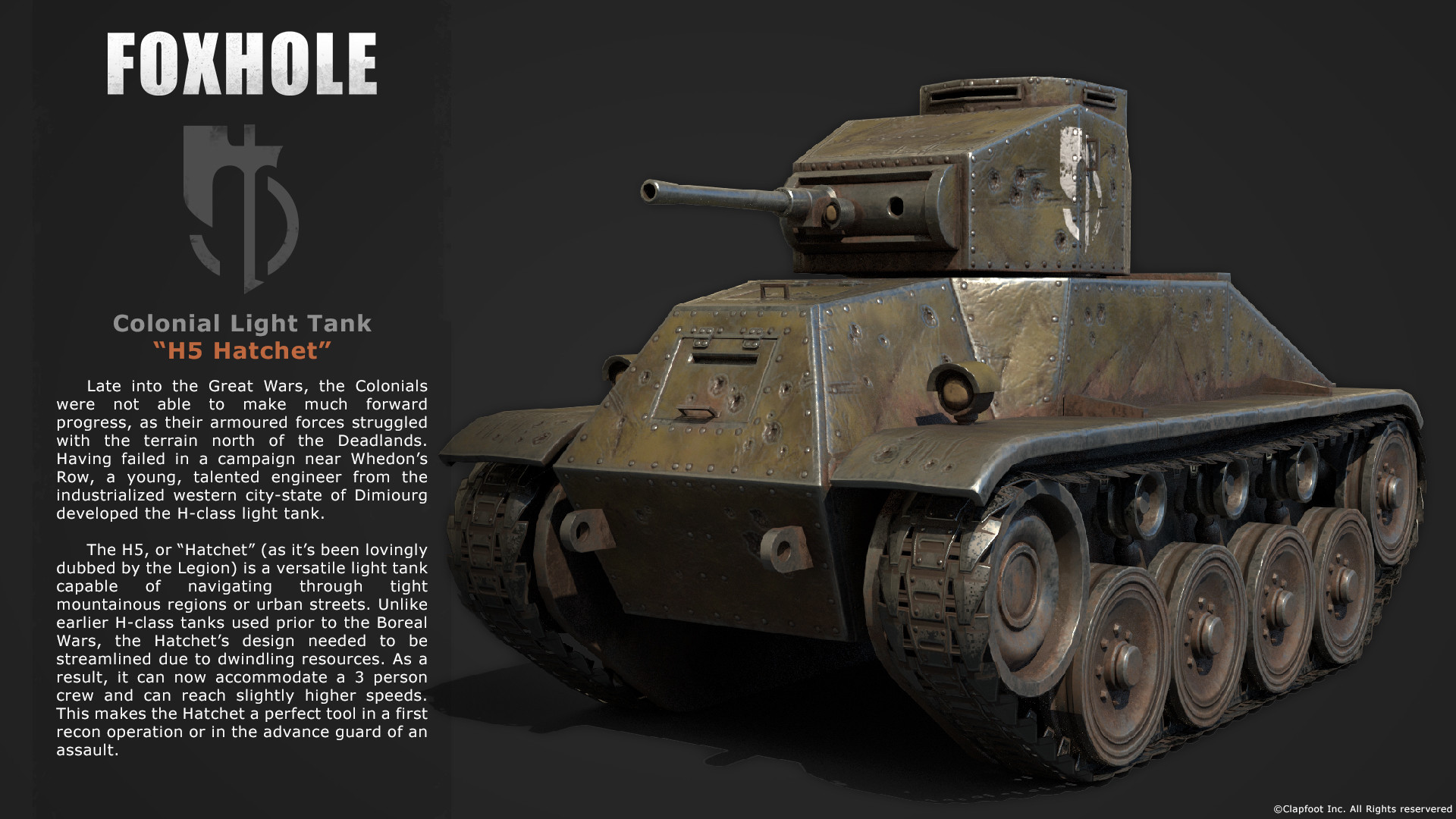Foxhole Colonial Tank & ArtStation - Foxhole - Colonial Light Tank H5
