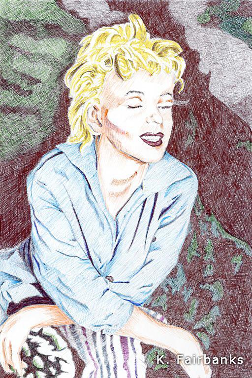 Marilyn Monroe Ball Point Pen Drawing