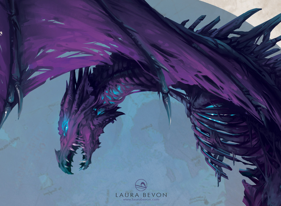 Laura bevon ddd dragon closeup by laurabevon