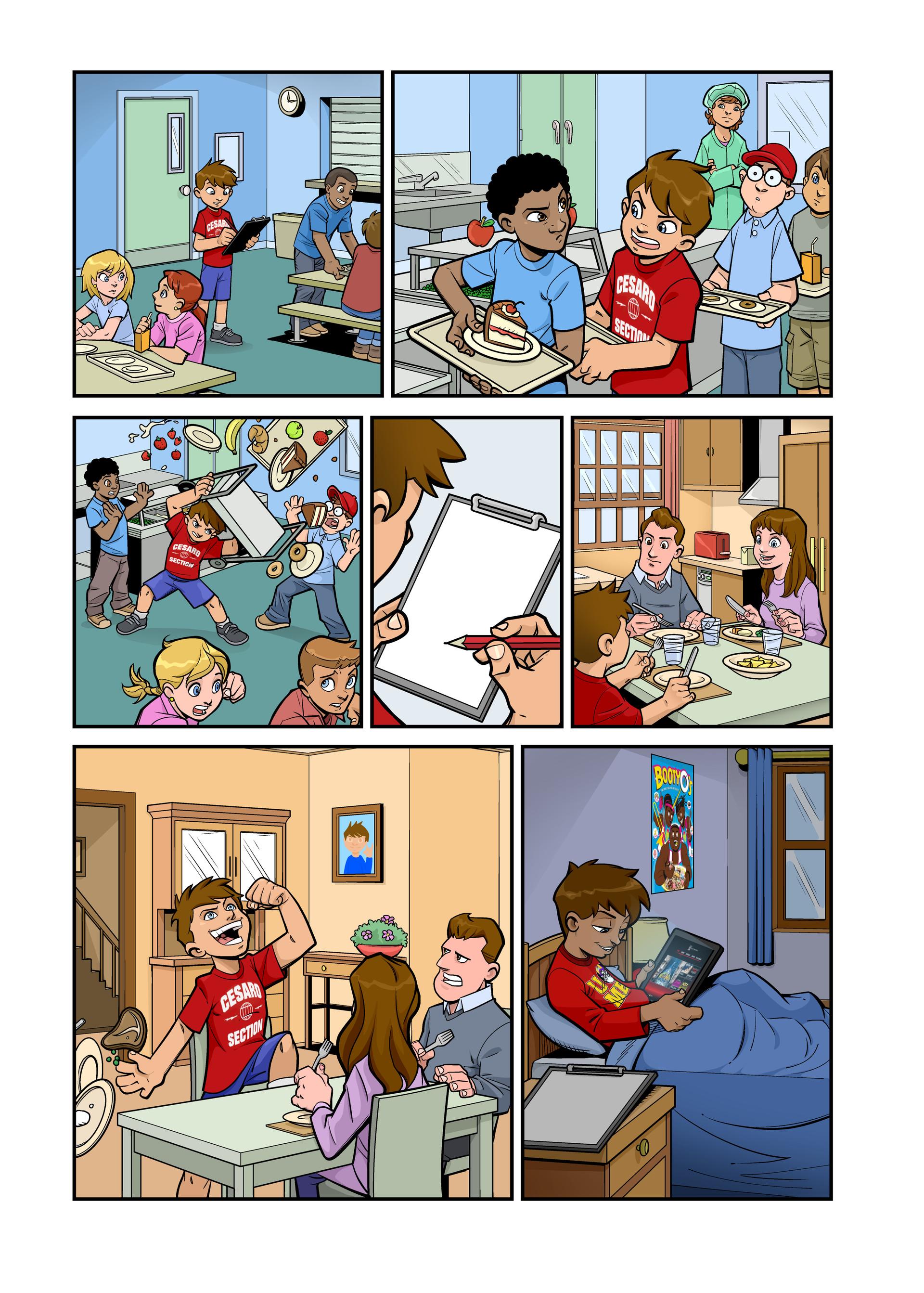 Page 02 :WWE Kids Magazine - SuperFan comic art